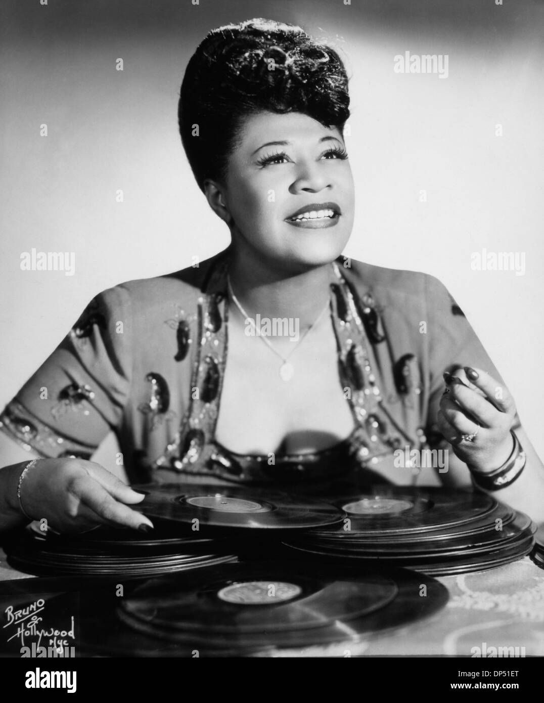 Ella Fitzgerald (1917-1996), American Jazz and Blues Singer, Portrait, circa 1940's Stock Photo