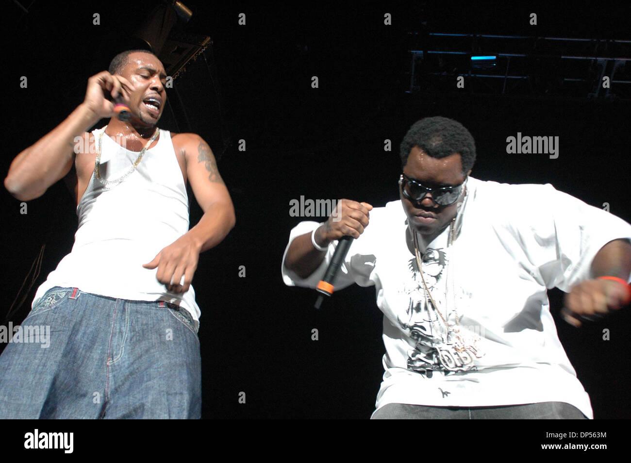Sep 03, 2006; Raleigh, NC, USA; Hip-hop band 'Dem Franchisz Boyz' perform live in concert at at the Alltel Pavillion Stock Photo