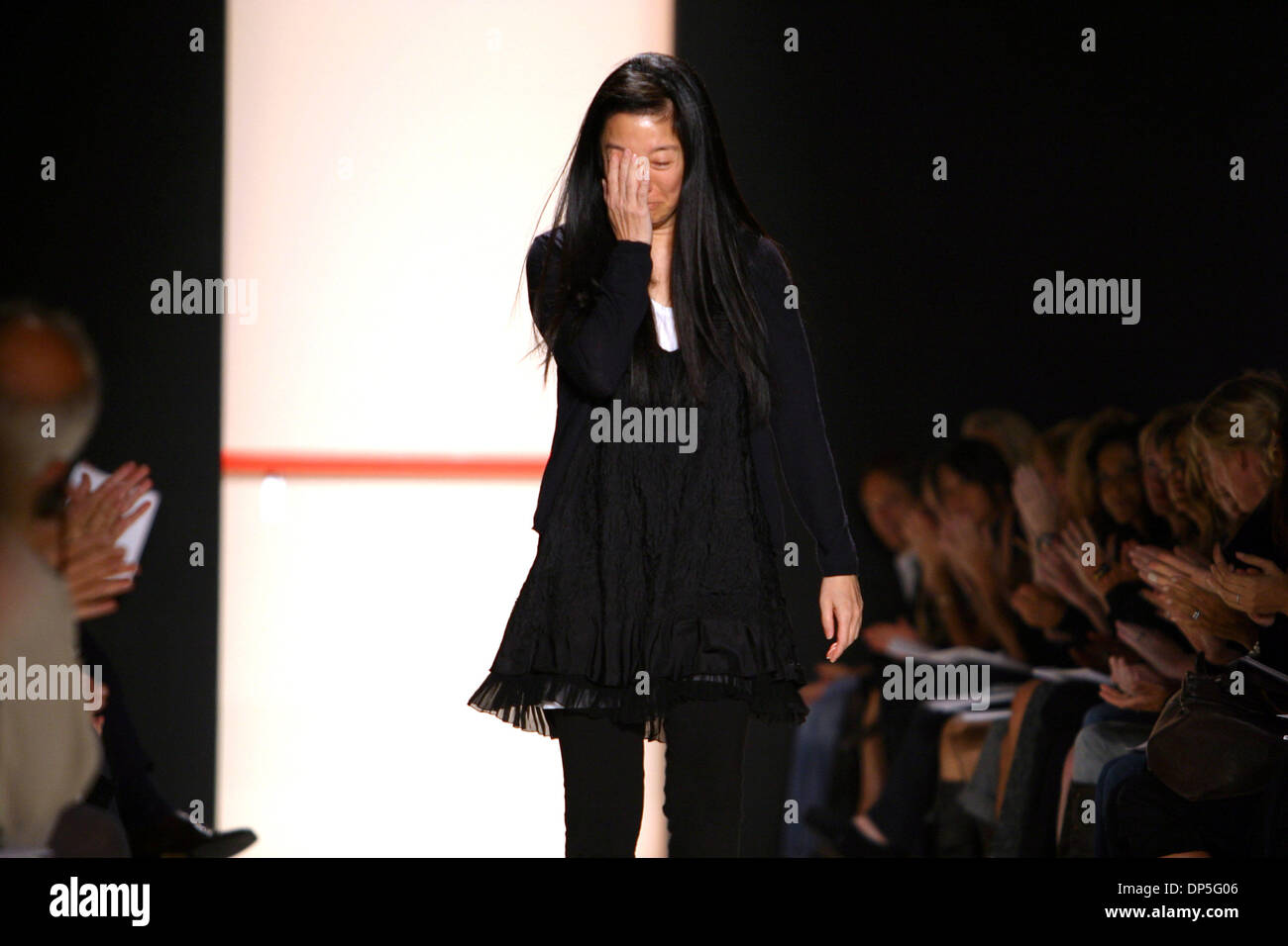 Sep 14, 2006; New York, NY, USA; After losing her father, a tearful VERA WANG shows her Vera Wang  Spring 2007 Collection in NYC. Mandatory Credit: Photo by Jodi Jones/ZUMA Press. (©) Copyright 2006 by Jodi Jones - Stock Image