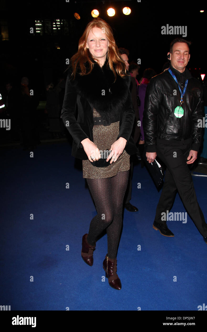 London, UK, 7th January 2014. Olivia Inge arrives for the Cirque Du Soleil: Quidam in London - Stock Image