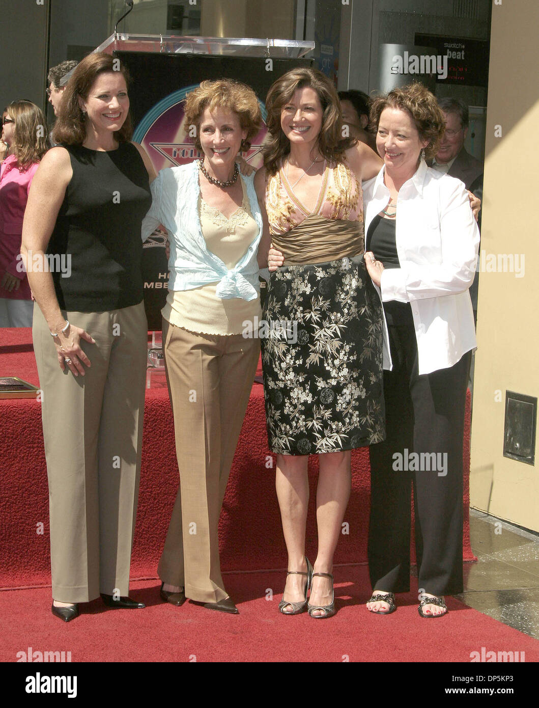 Sep 19, 2006; Hollywood, CA, USA; Singer AMY GRANT is honored with the 2,318th Star on Hollywood Walk of Fame. Accompanied by her husband VINCE GILL, parents BURT and GLORIA, her sisters CAROL, KATHY, MIMI. Mandatory Credit: Photo by Paul Fenton/ZUMA Press. (©) Copyright 2006 by Paul Fenton - Stock Image