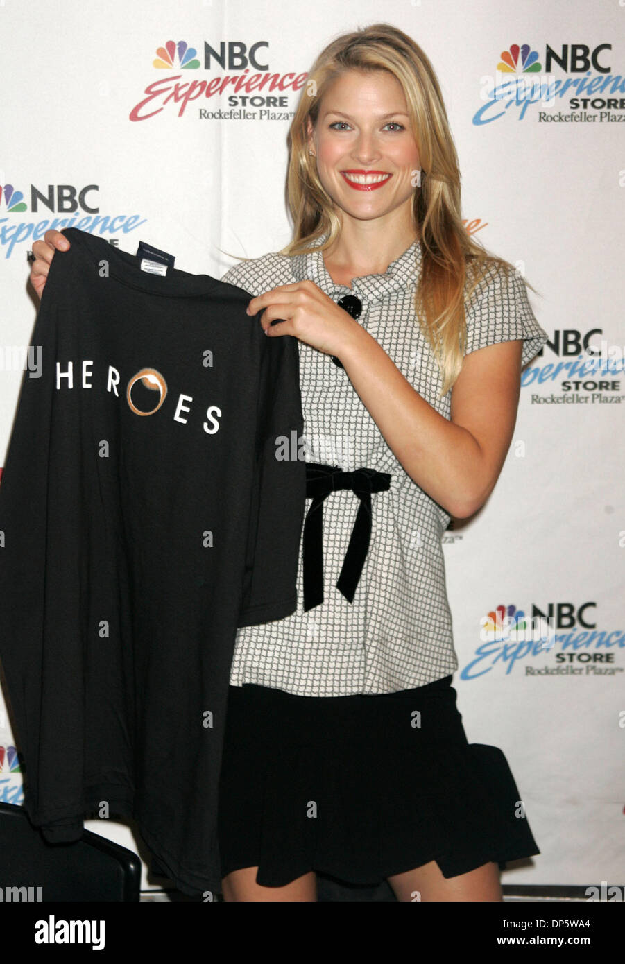Sep 25, 2006; New York, NY, USA; Actress ALI LARTER promotes her new show 'Heroes' at the NBC Experience Store. Stock Photo