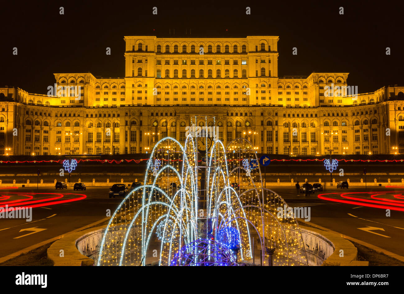 The Palace of the Parliament in Bucharest, Romania - Stock Image