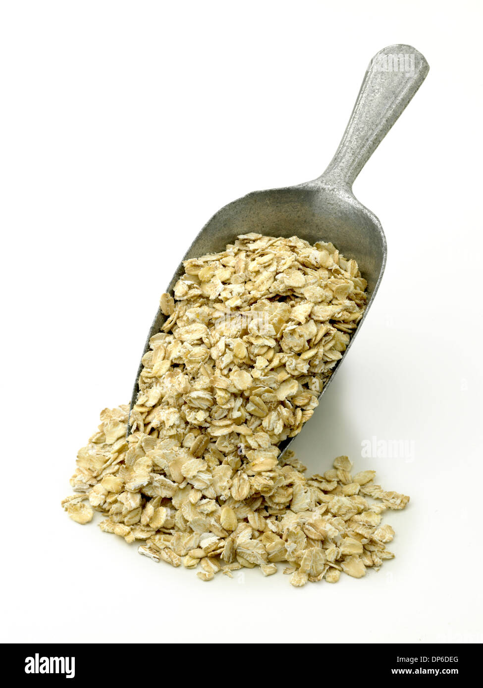 jumbo rolled oats in a scoop - Stock Image