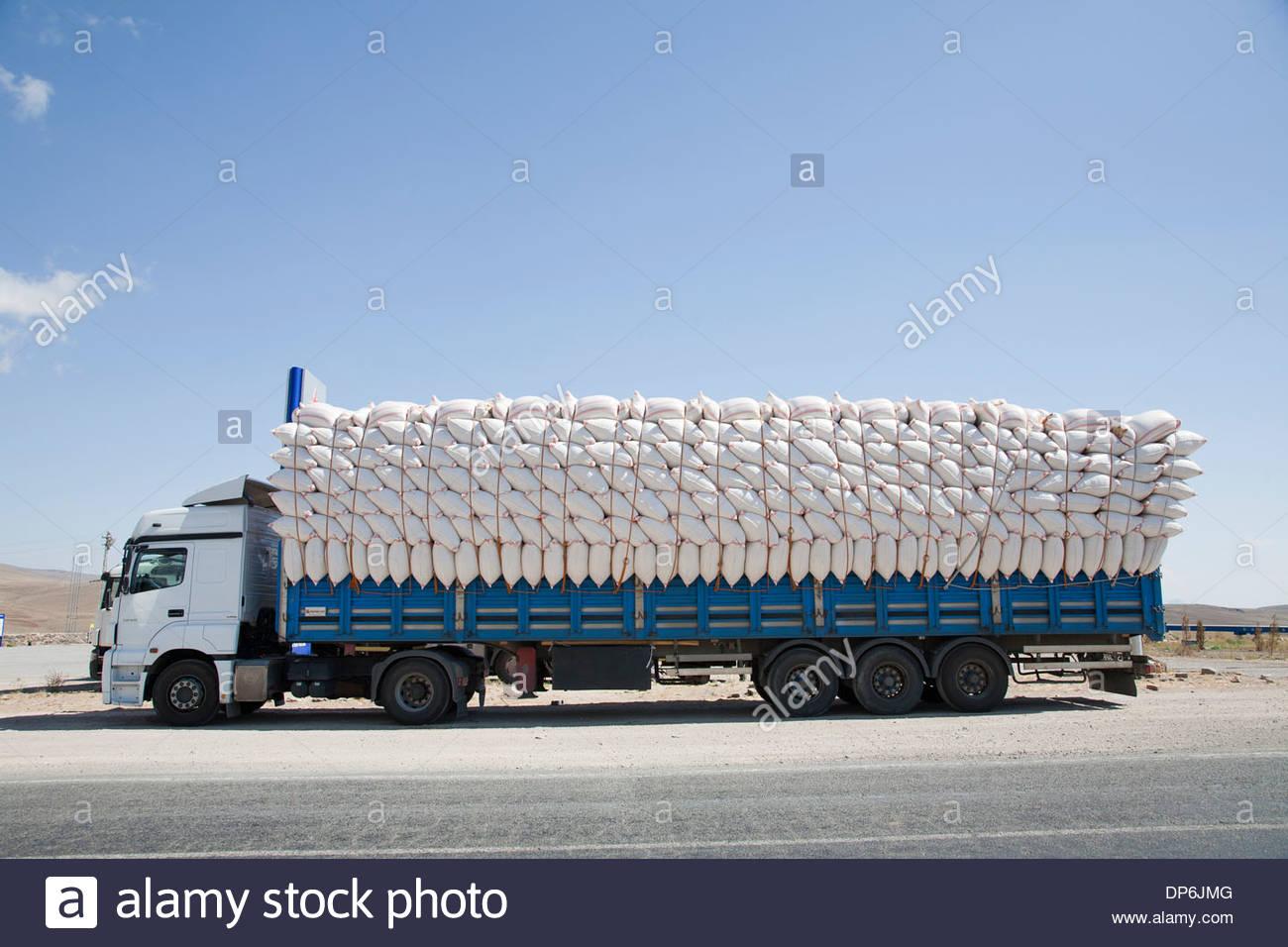 charged truck,dogubayazit,turkey - Stock Image
