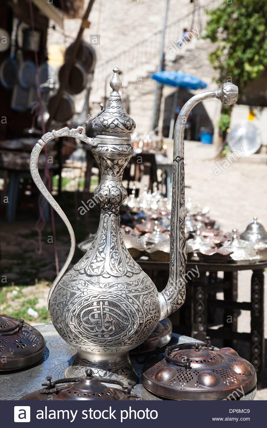 teapot,traditional handicraft,safranbolu,turkey - Stock Image