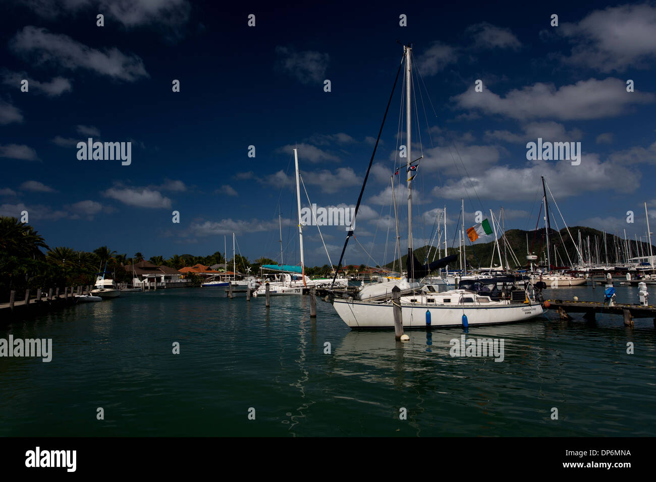 Jolly Harbour, Antigua, - Stock Image