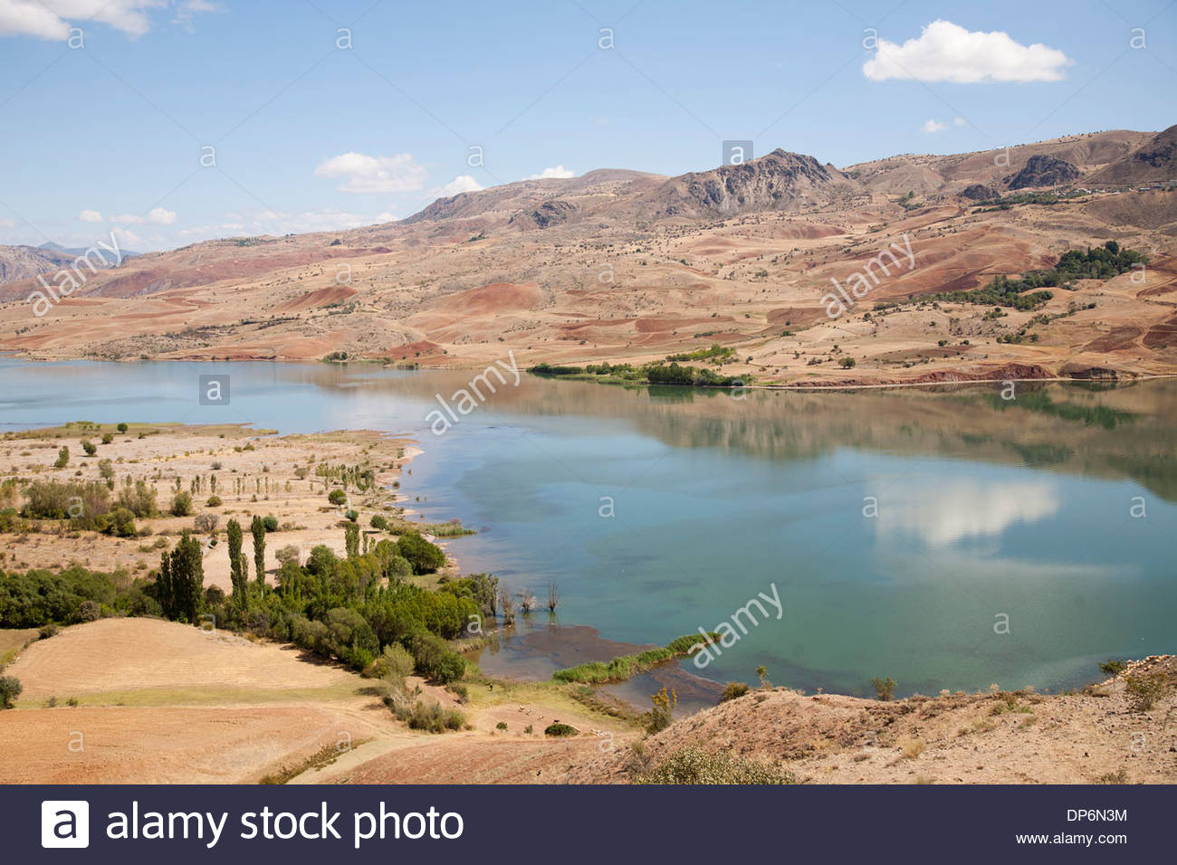 artificial lake,dam of camlica,sebinkarahisar area - Stock Image