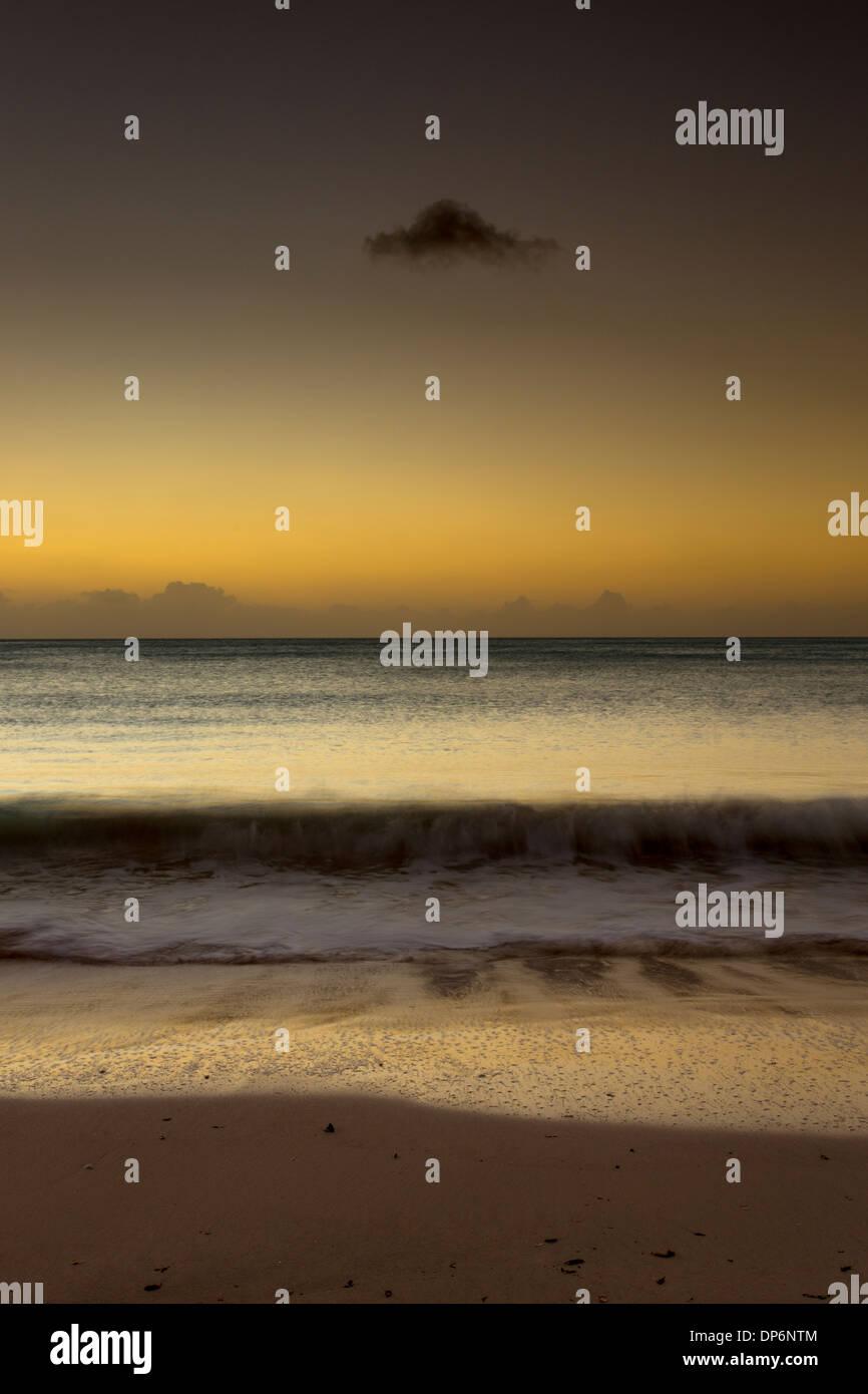 Sunset on Jolly Beach Antigua, Leeward Islands, West Indies - Stock Image