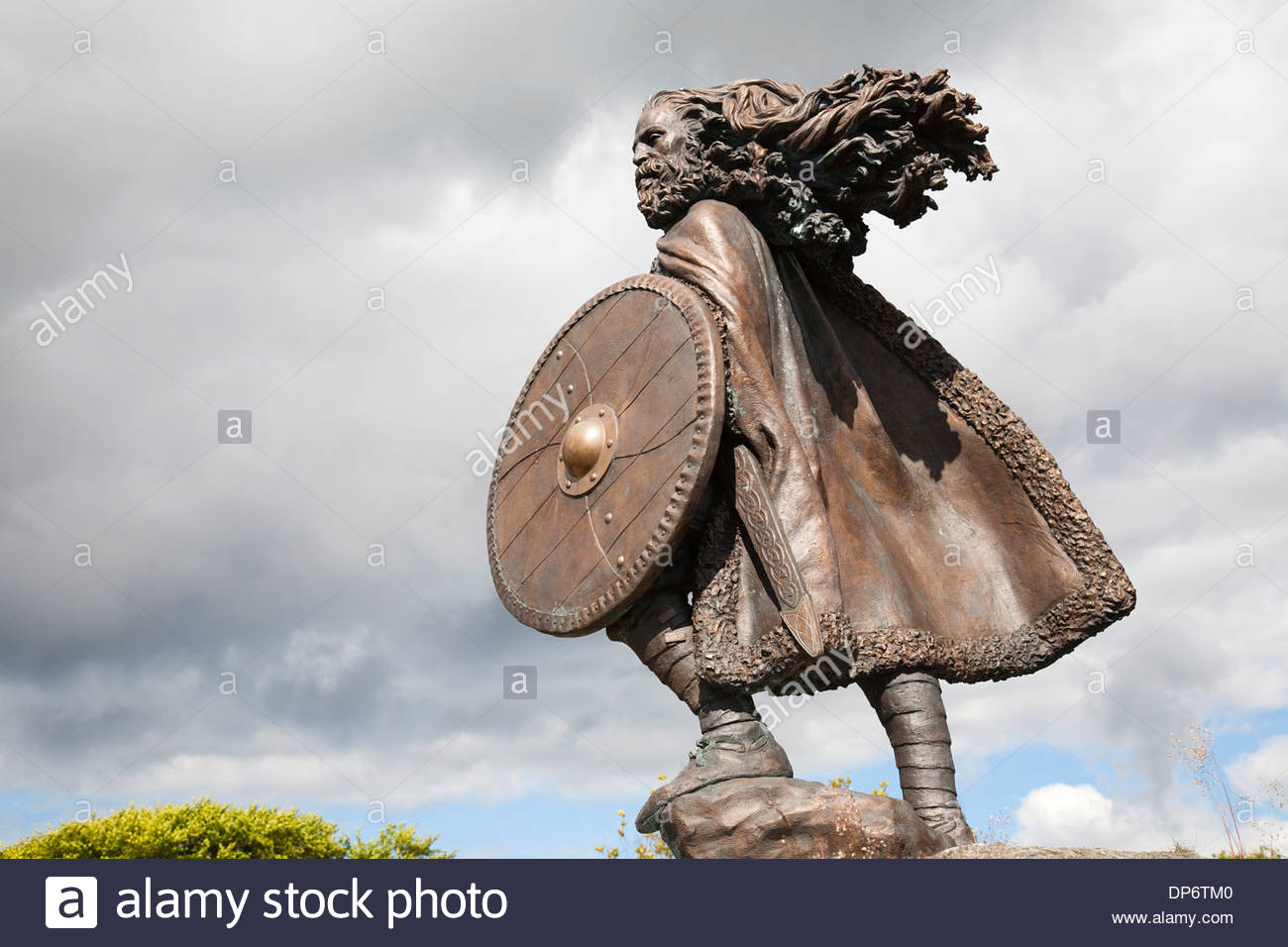 statue of king harald harfagre,haugesund town,norway,europe - Stock Image