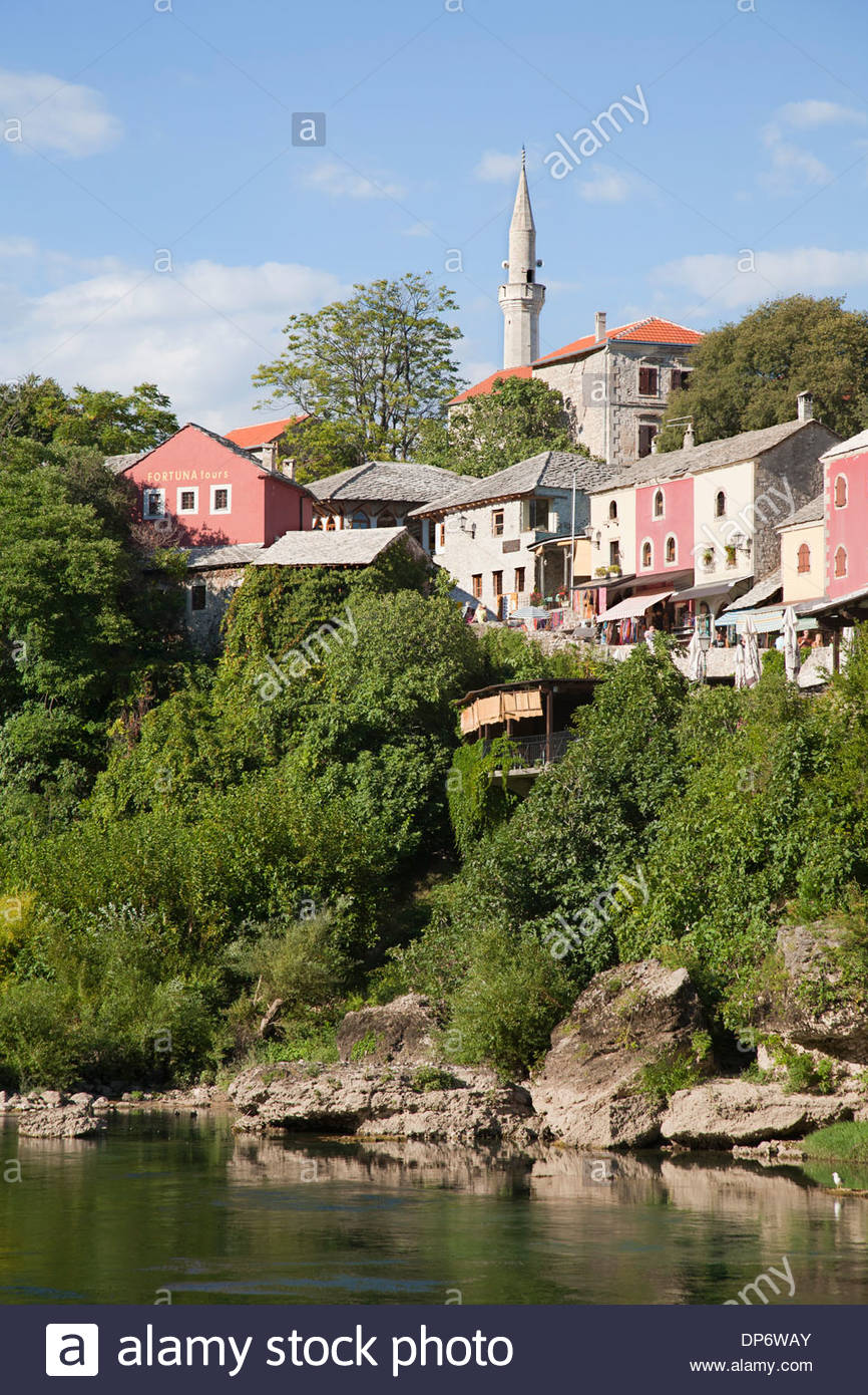 old town,east side of mostar,bosnia and herzegovina,europe - Stock Image