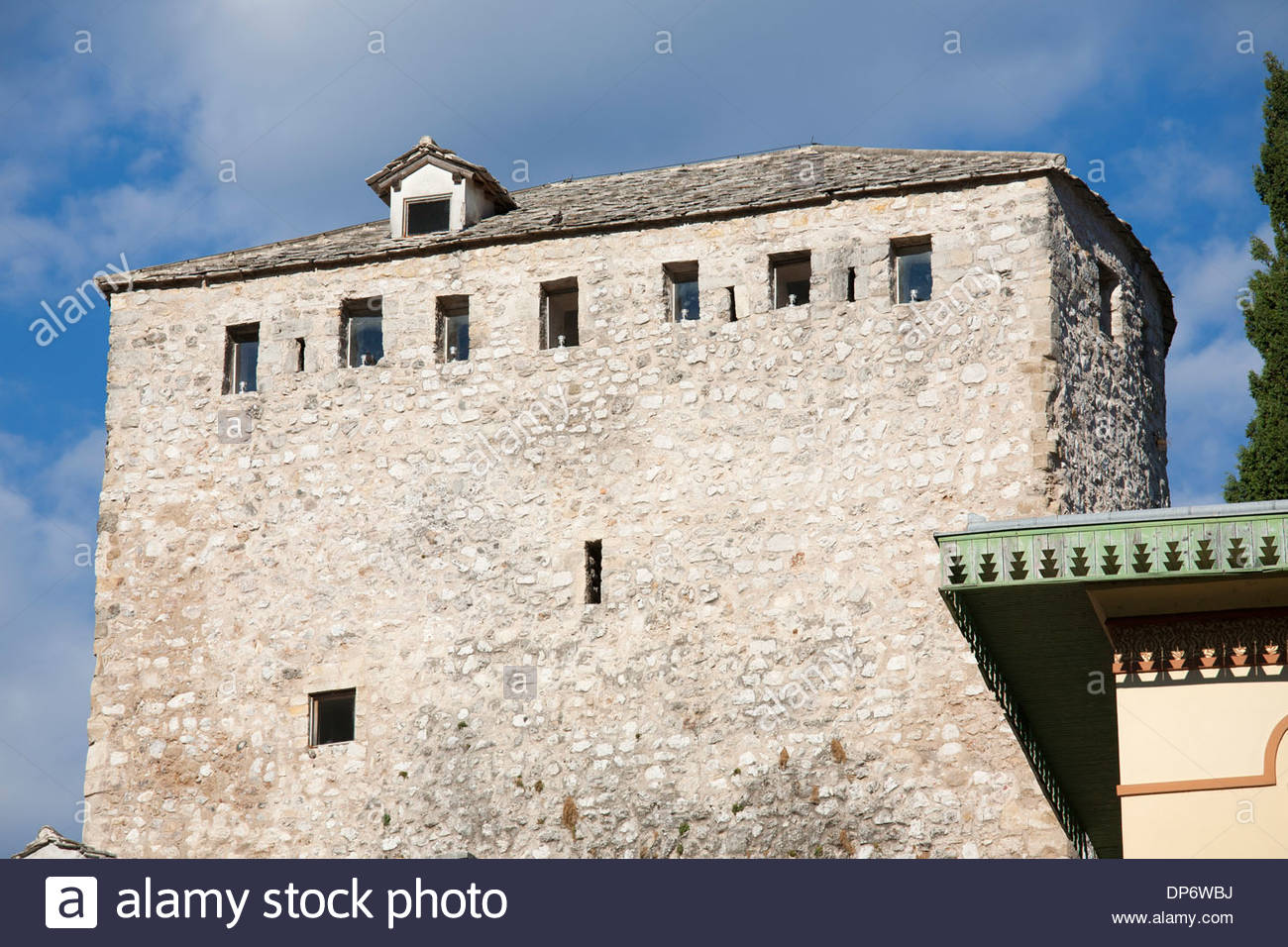 helebija tower,old town east side of mostar,bosnia and herzegovina,europe - Stock Image