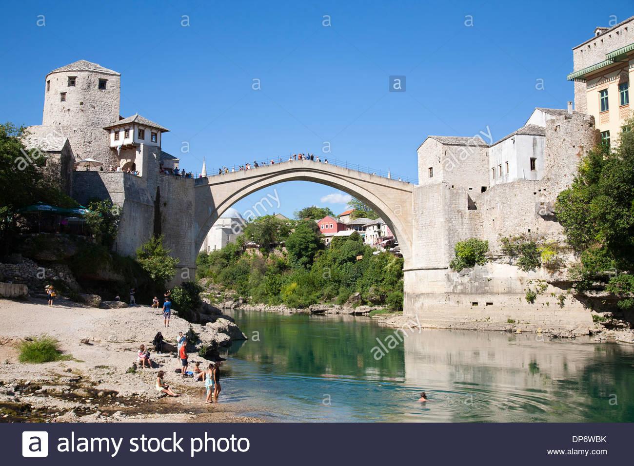 the old bridge,mostar,bosnia and herzegovina,europe - Stock Image
