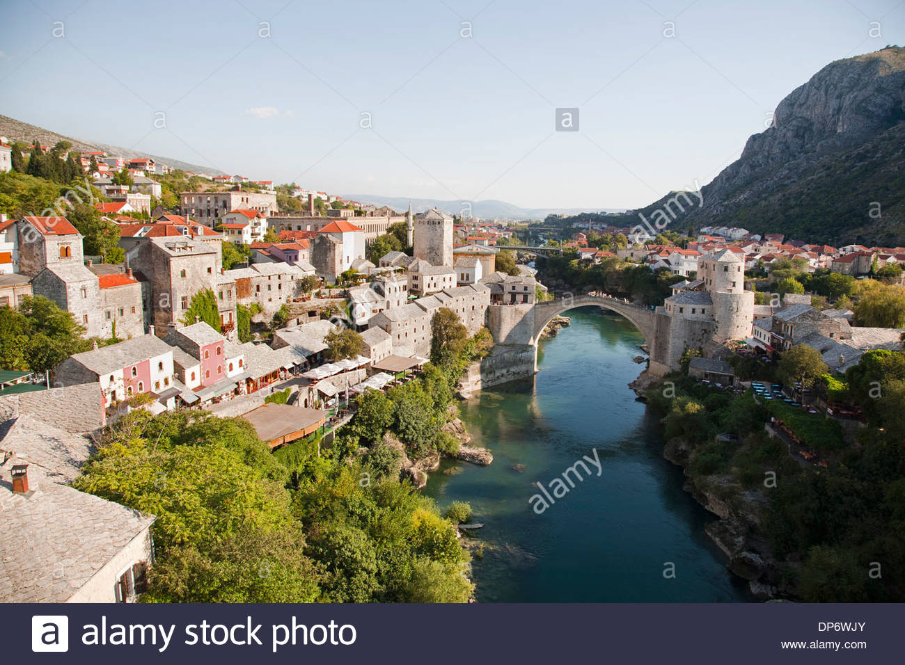 the old bridge,mostar,bosnia and herzegovina,europe - Stock Image