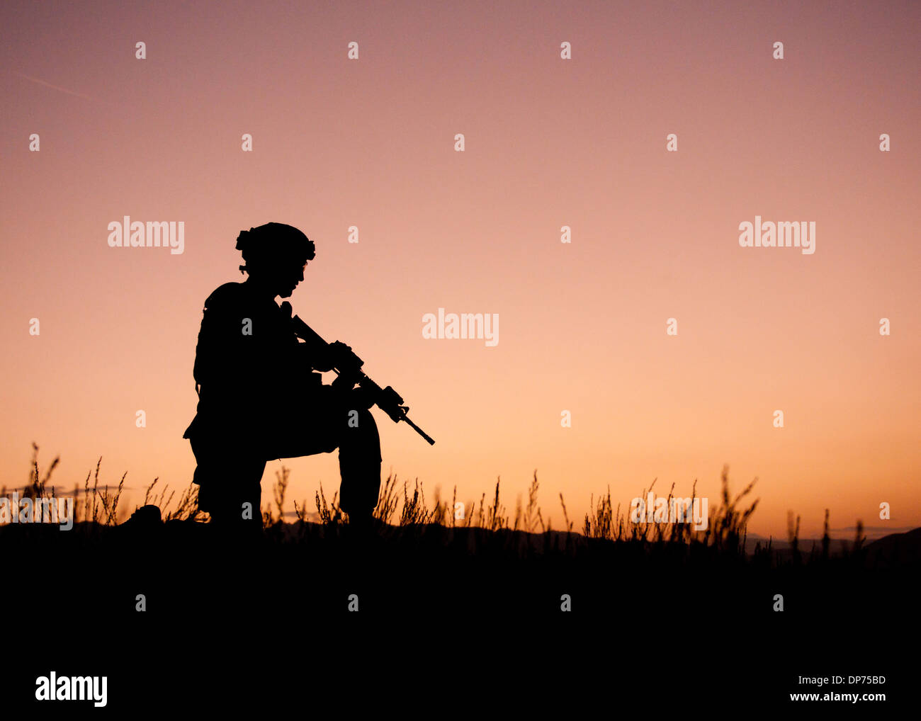 soldier silhouette dusk stock photos soldier silhouette dusk stock
