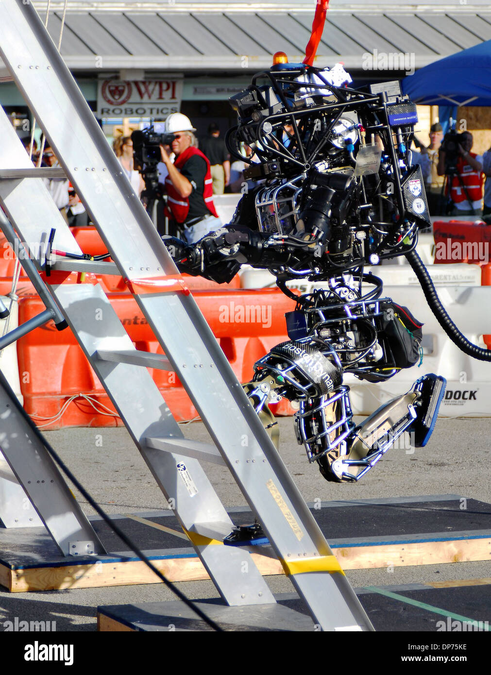 Boston Dynamic's Atlas robot during the DARPA Rescue Robot Showdown at Homestead Miami Speedway December 20, - Stock Image