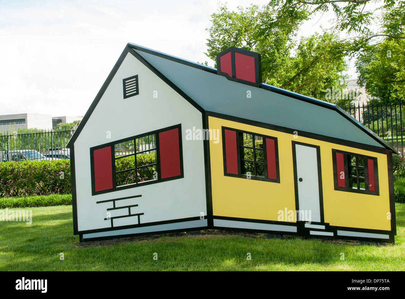House 1 by Roy Lichtenstein, in the National Gallery of Art ...