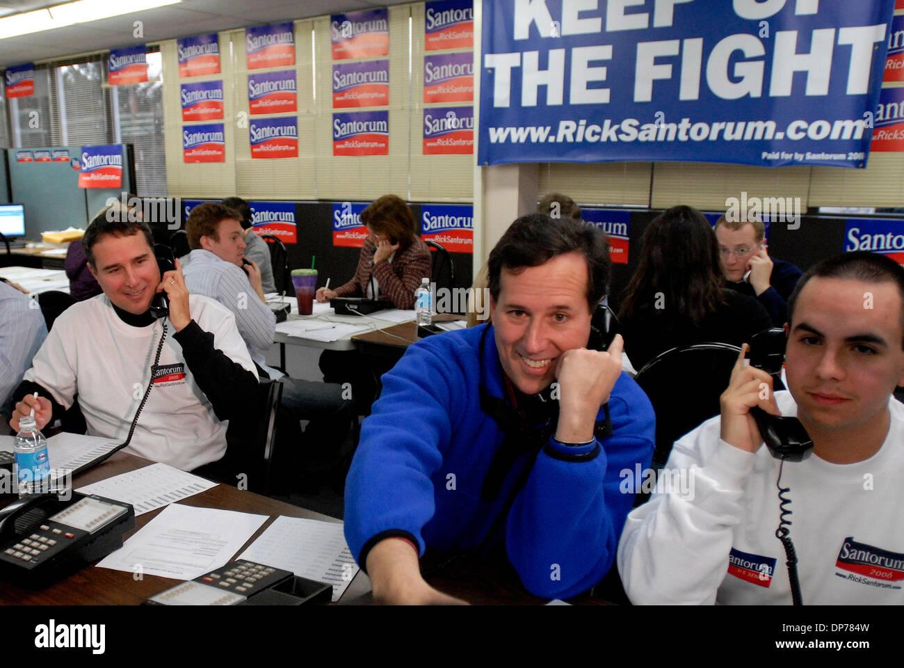 Election Day 2006 >> Nov 07 2006 Pittsburg Pa Usa Us Senator Rick Santorum R Pa On