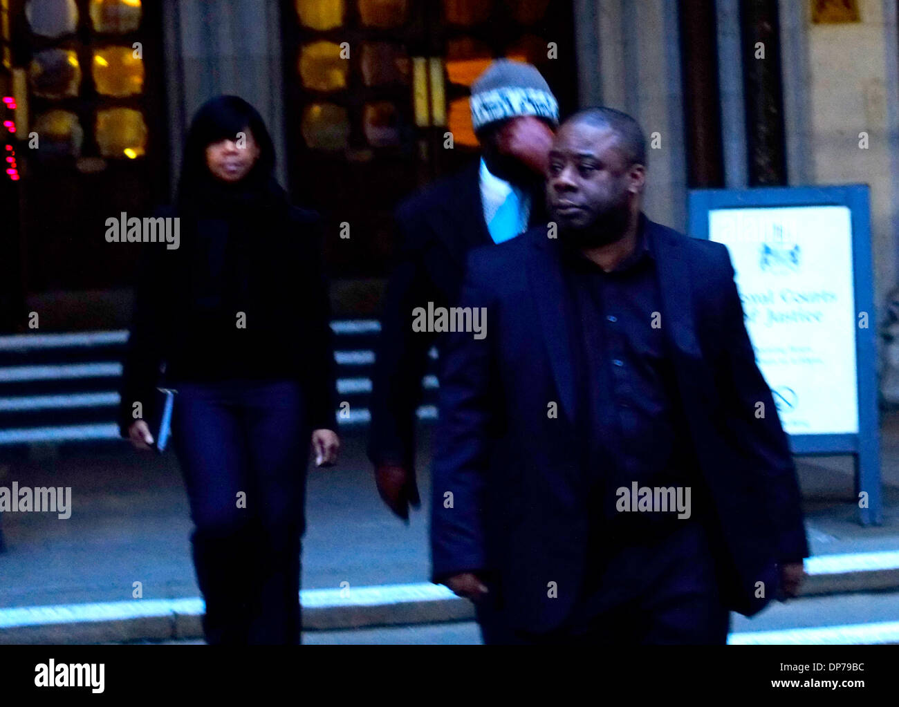 London, UK. 8th January 2014. Ray Lewis outside court after Mark Duggan inquest Credit:  Rachel Megawhat/Alamy Live News - Stock Image