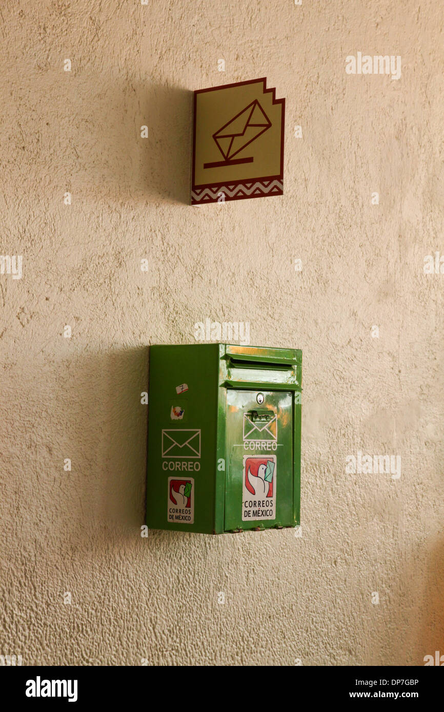 A Mexican post box or letter Mexico - Stock Image