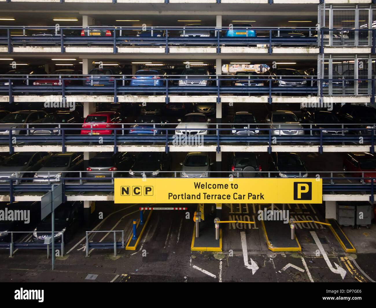 NCP Multistorey car park in Southampton city centre - Stock Image