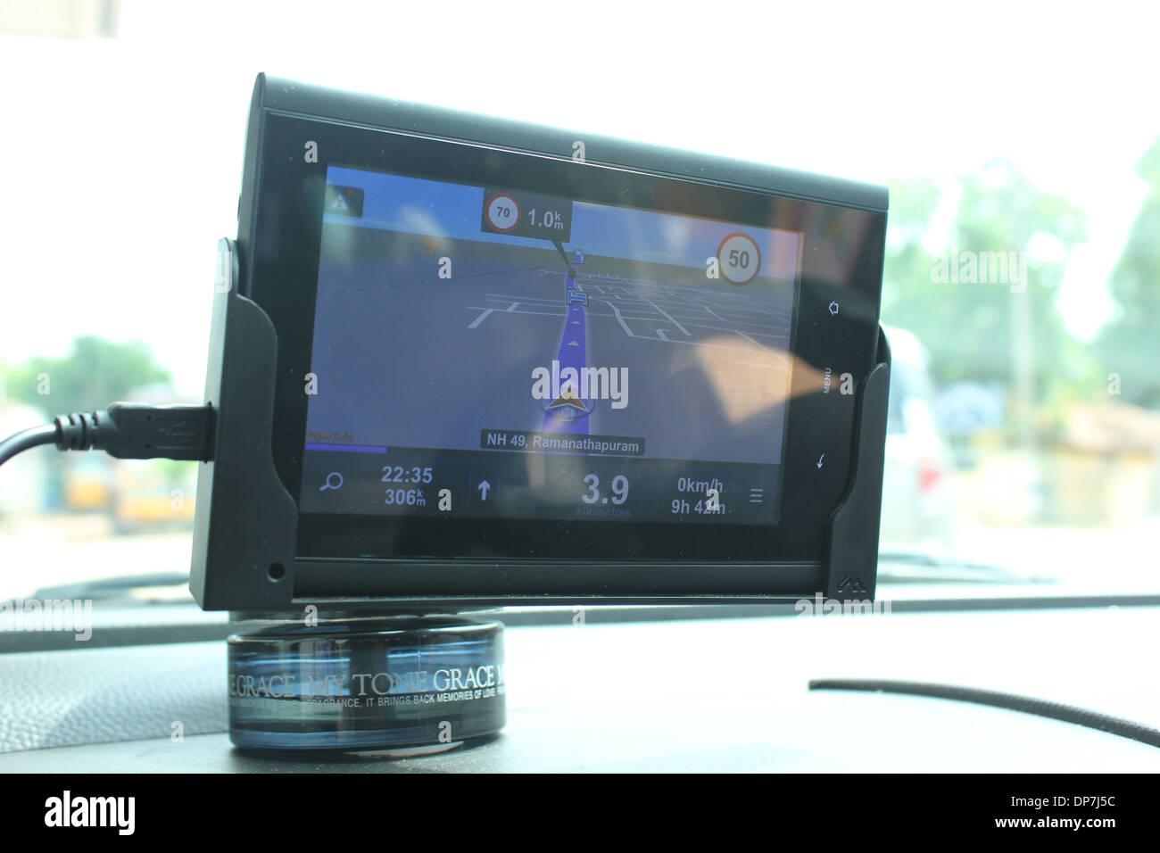 GPS navigation device - Stock Image