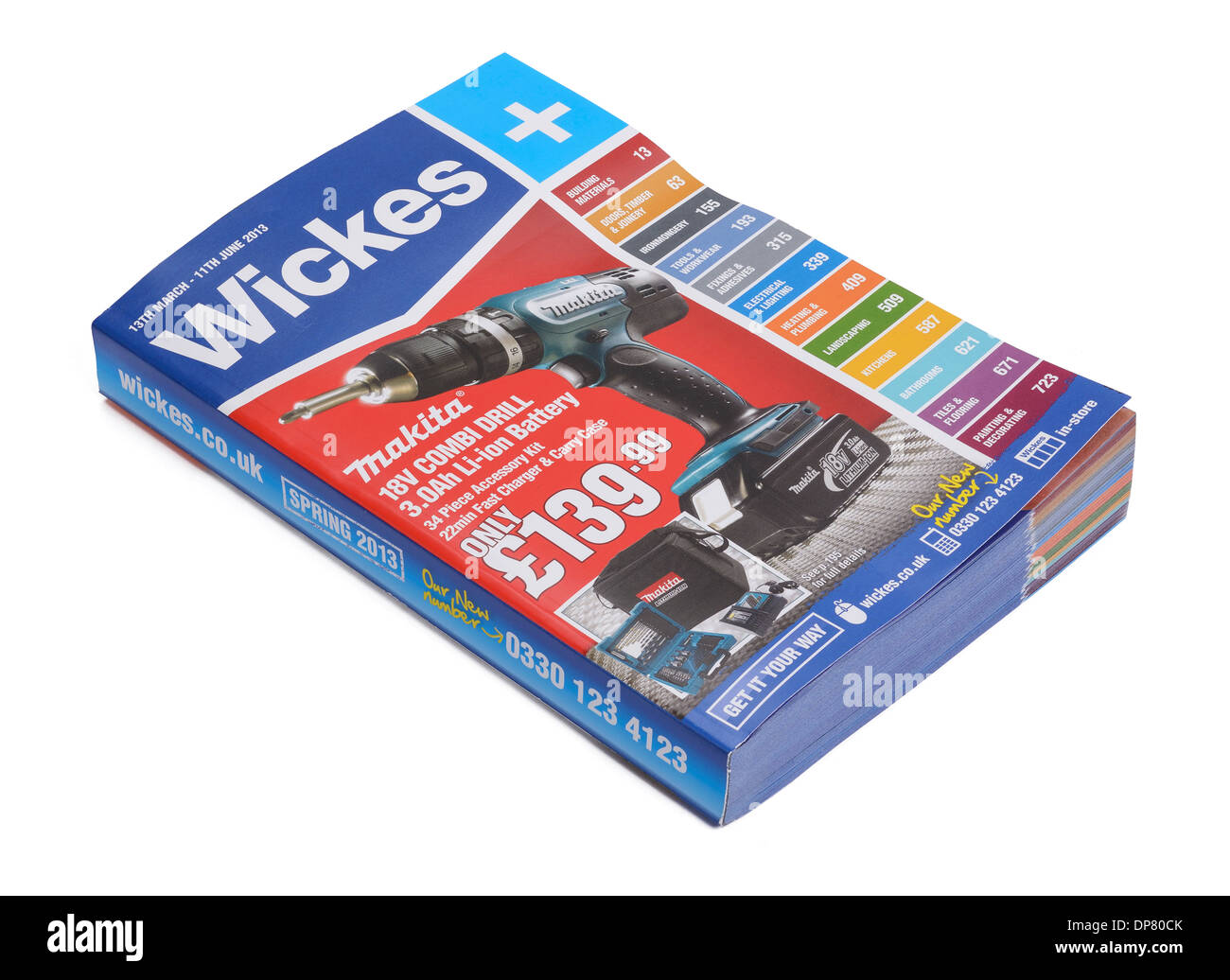 Wickes diy product catalogue - Stock Image