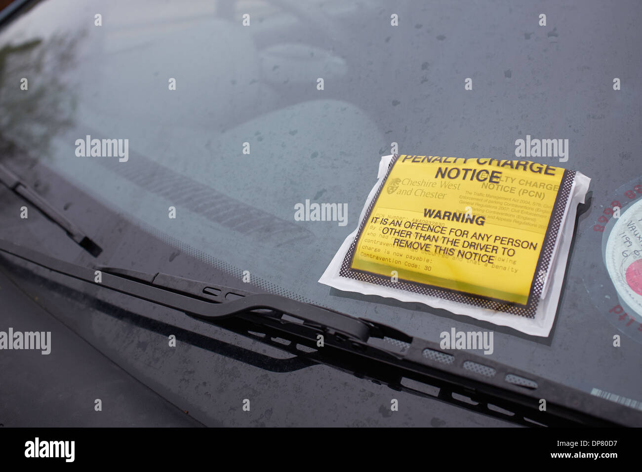Car with a PCN Penalty Charge Notice on the windscreen - Stock Image