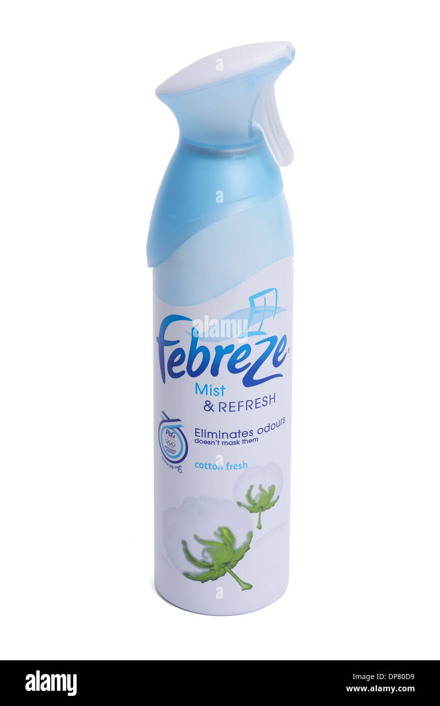 Can of Febreze spray - Stock Image
