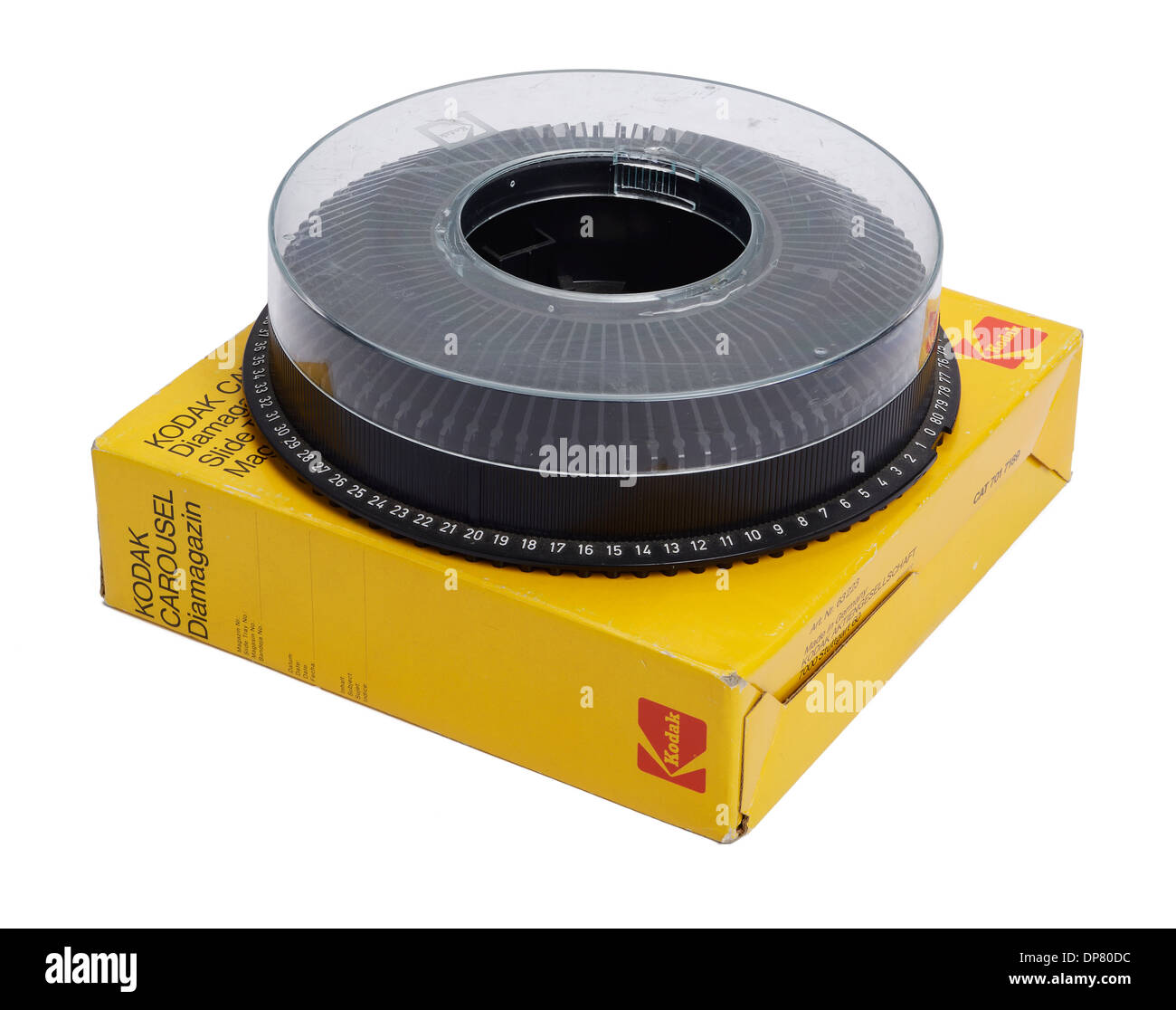 Kodak Carousel circular slide tray for a slide projector - Stock Image