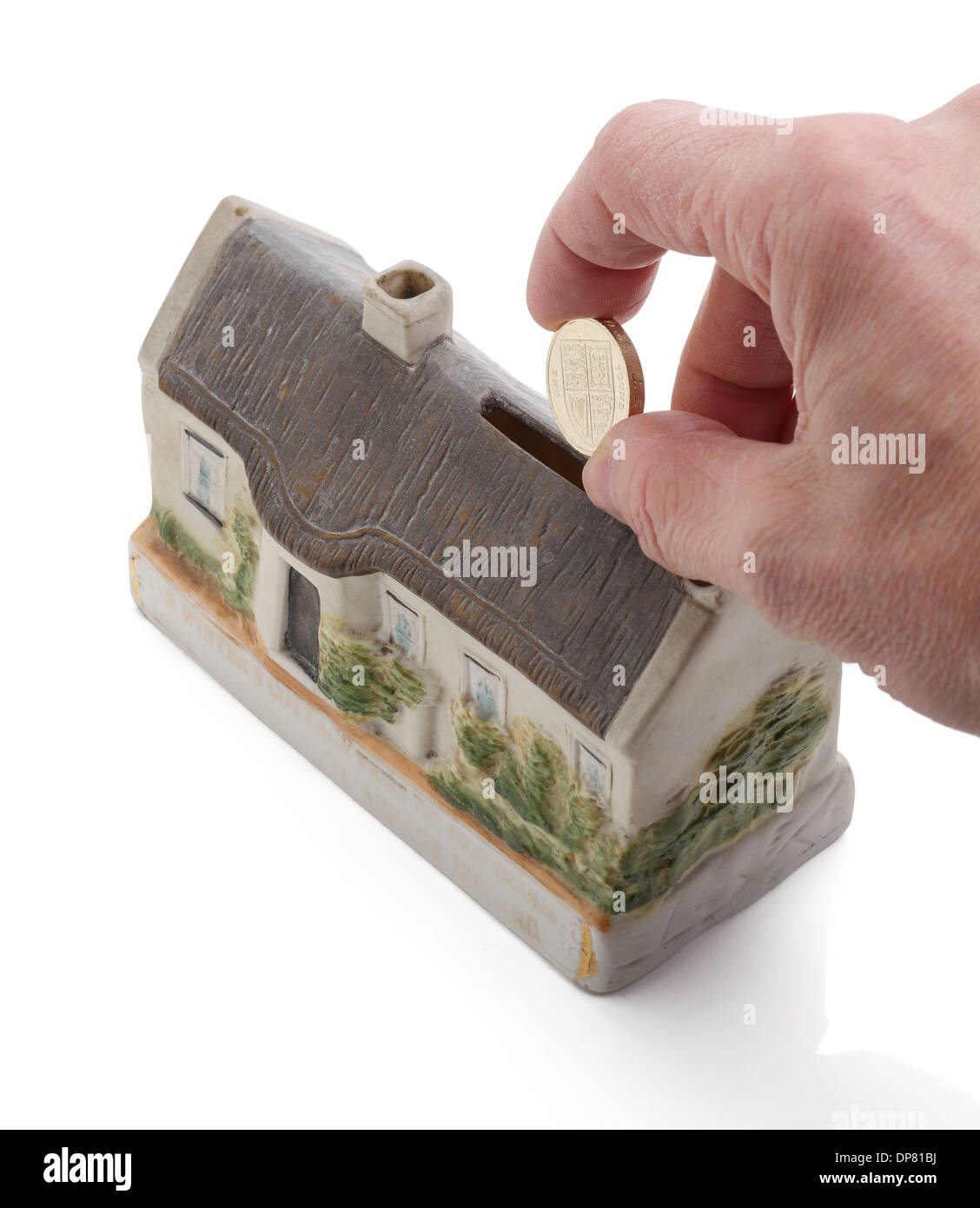 Investing money in to property - Stock Image
