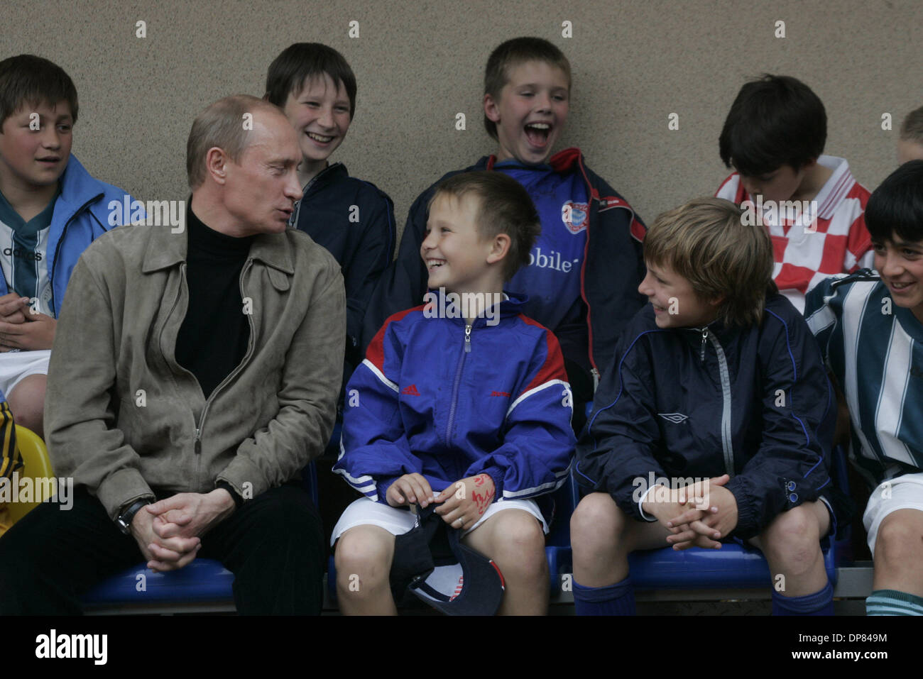 Vladimir Putin With Russian Kids Credit Image C Photoxpress Zuma Stock Photo Alamy