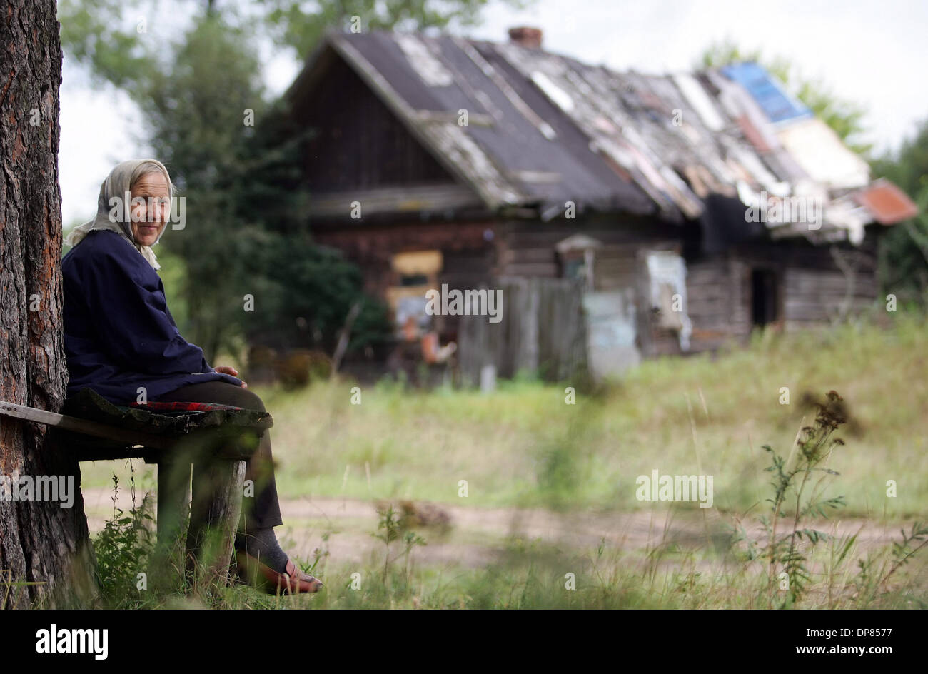 Belarus village in Gomel region of Belarus. People of this belarus village also suffered of Chernobyl disaster in April 1986.(Credit Image: © PhotoXpress/ZUMA Press) RESTRICTIONS: North and South America Rights ONLY! - Stock Image