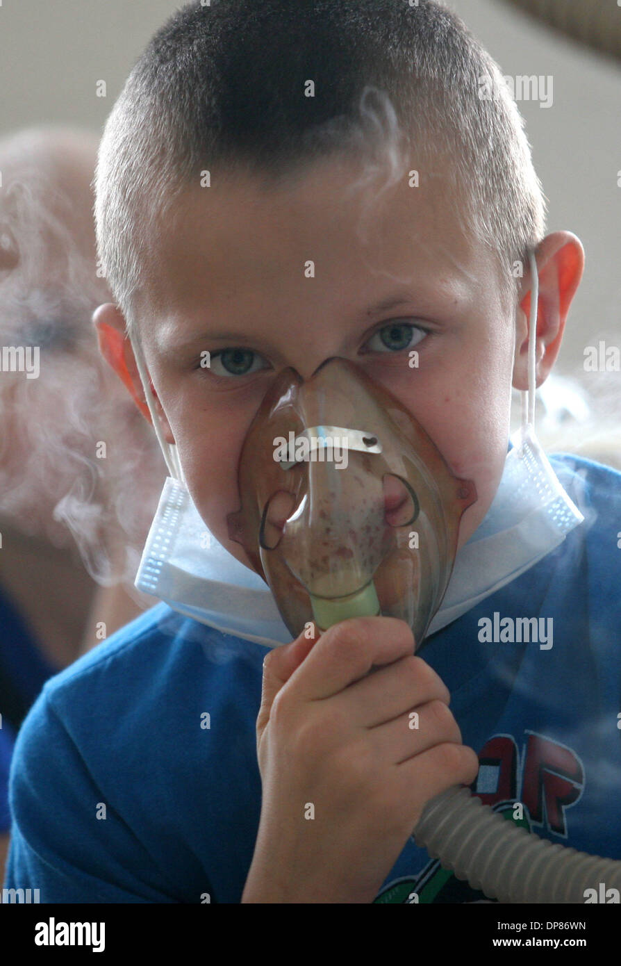 Dec 21, 2005 - Borovliany, Belarus - (File Photo) Irradiated kids, victims of Chernobyl disaster, undergoing medical treatment in oncologic centre in Borovliany settlement near Minsk. (Credit Image: © PhotoXpress/ZUMA Press) RESTRICTIONS: Tabloids Sales Out - Stock Image