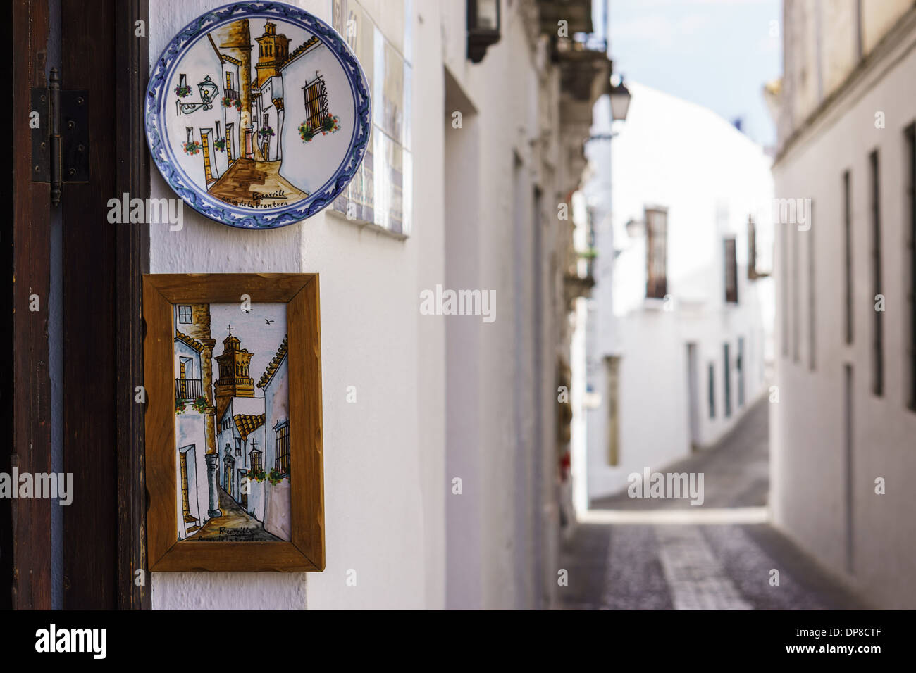 gift shop at White Towns of Andalusia, Arcos de la Frontera - Stock Image