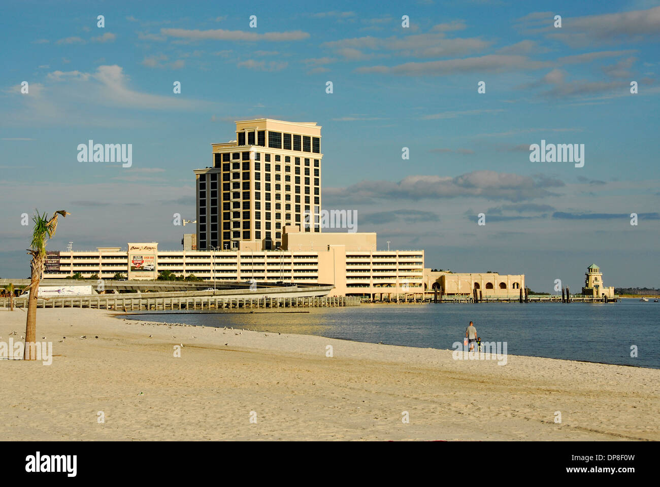 Biloxi Beach And Beau Rivage Hotel And Casino Resort In Biloxi