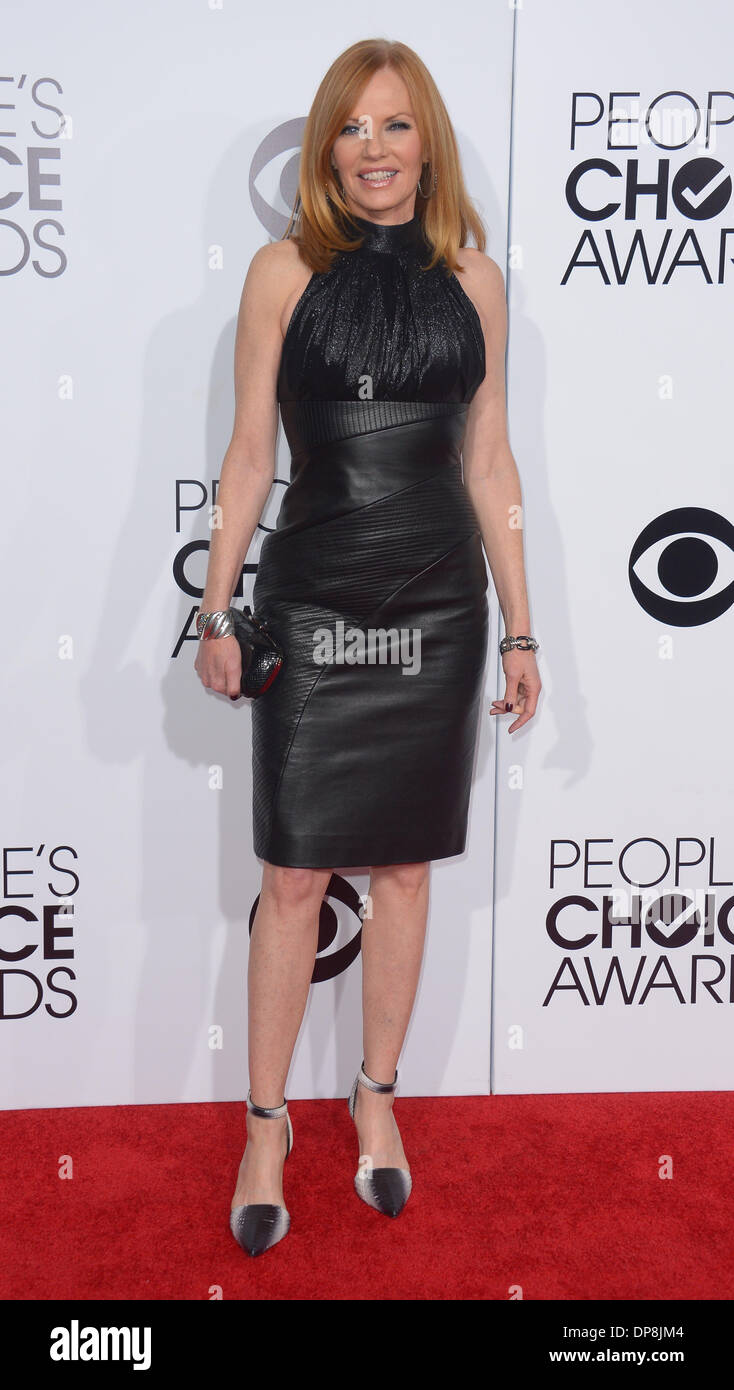 Los Angeles, CA, USA. 08th Jan, 2014. Marg Helgenberger arrives at the People's Choice Awards in Los Angeles, CA January 8th 2014 Credit:  Sydney Alford/Alamy Live News - Stock Image