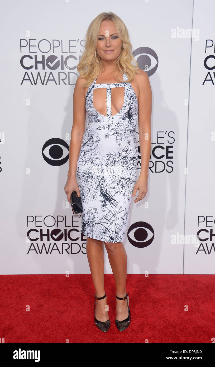 Los Angeles, CA, USA. 08th Jan, 2014. Malin Ackerman arrives at the People's Choice Awards in Los Angeles, CA January 8th 2014 Credit:  Sydney Alford/Alamy Live News - Stock Image