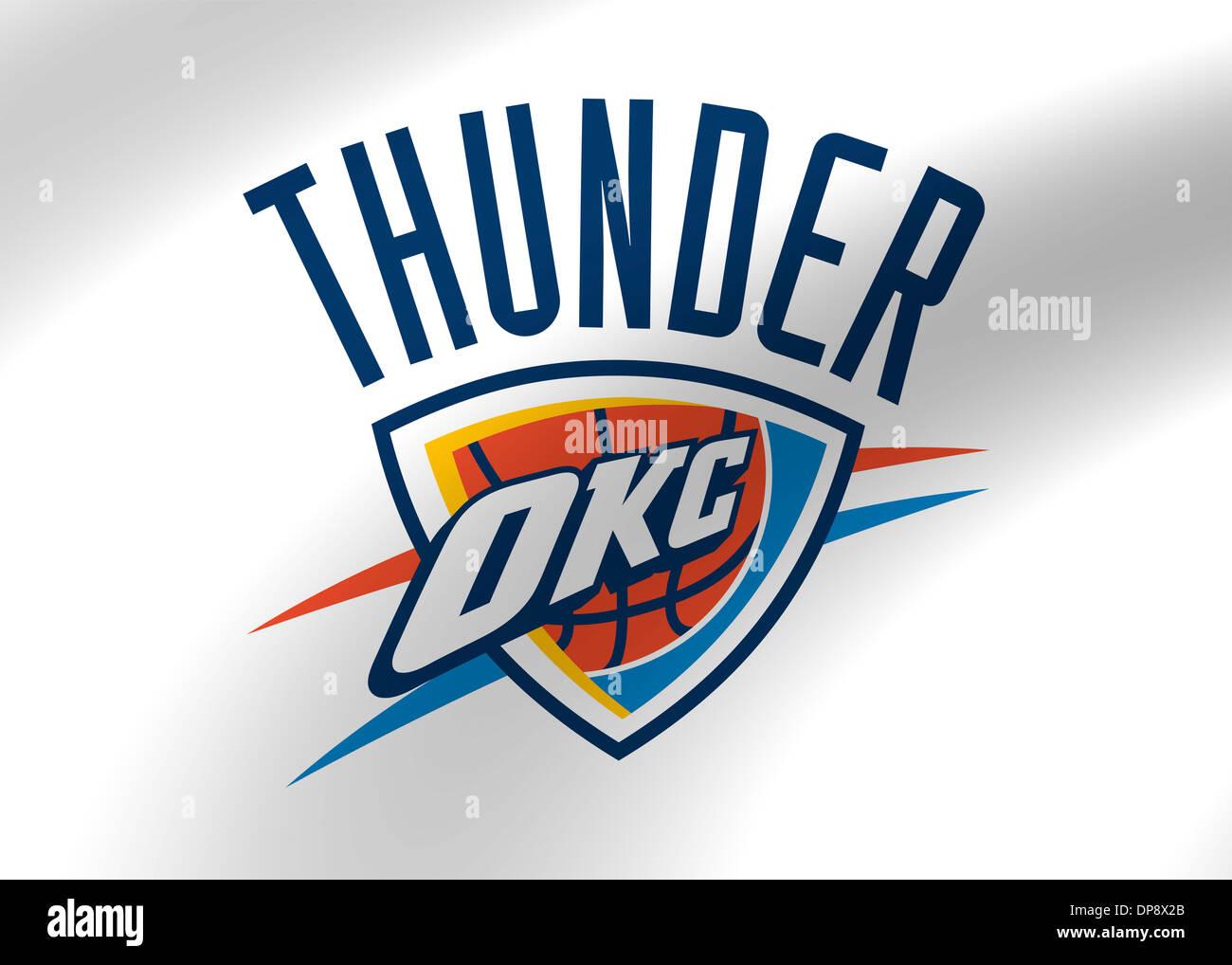 Oklahoma City Thunder Logo Flag Icon Symbol Emblem