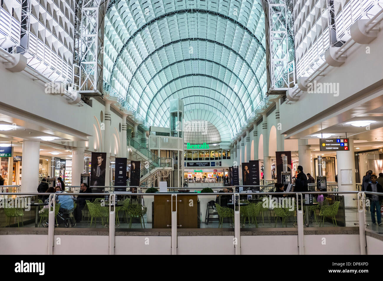 Arched roof of the The Bentall Centre, shopping mall - Kingston upon Thames, Greater London - Stock Image