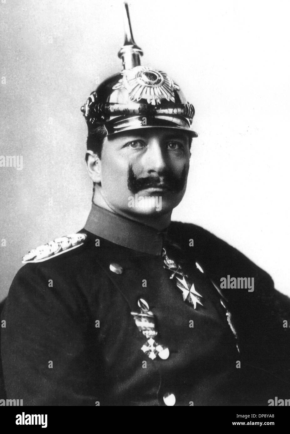 Emperor Wilhelm II. in 1917, who was born on the 27th of January in 1859 and died on the 4th of June in 1941 in Stock Photo