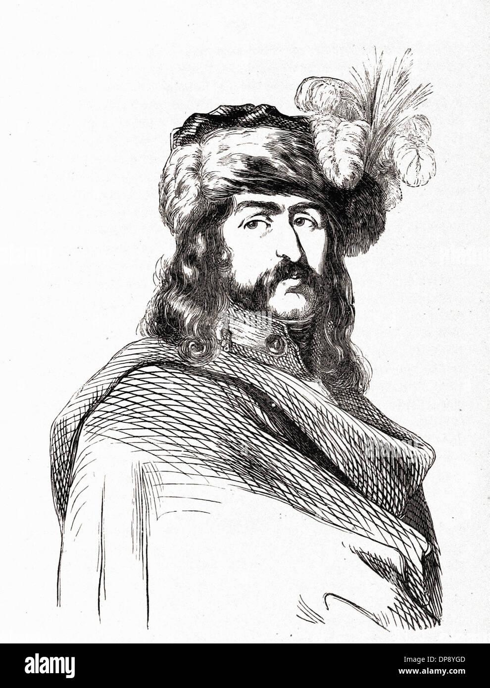 Joachim MURAT Marechal de l'Empire - French Engraving XIX th Century - Stock Image