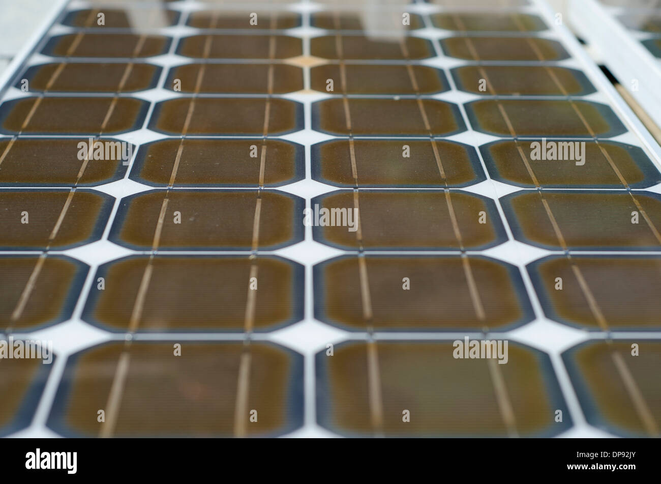Close up of Solar panels. - Stock Image