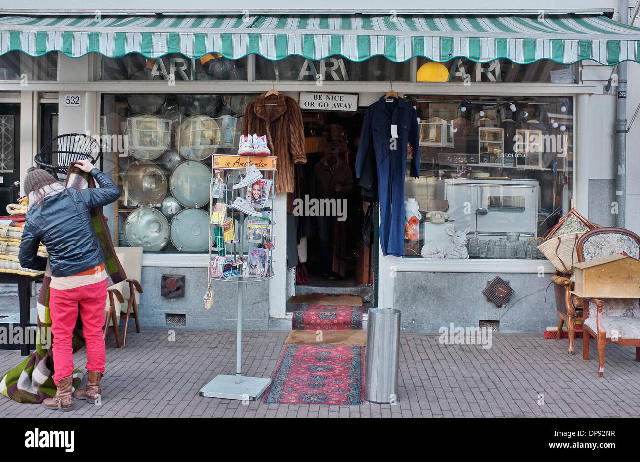 Overtoom Meubels Amsterdam : Ari bric a brac store on overtoom amsterdam stock photo: 65353283