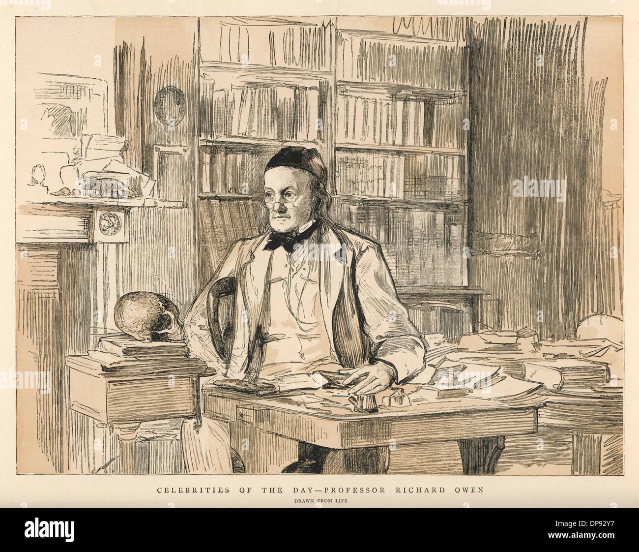 Sir Richard Owen - Stock Image