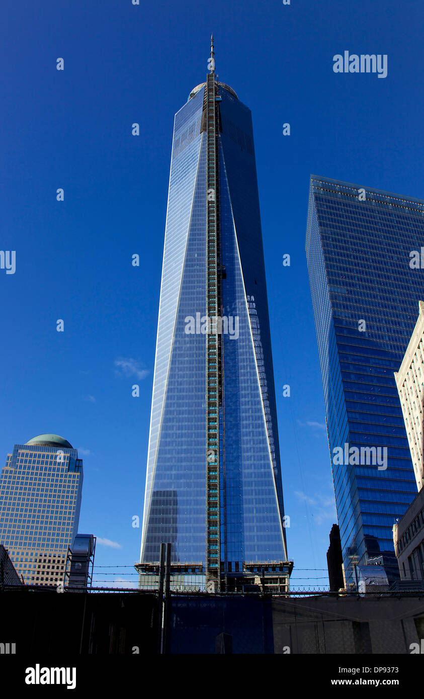 View of Freedom Tower under construction, WTO, Ground Zero ...