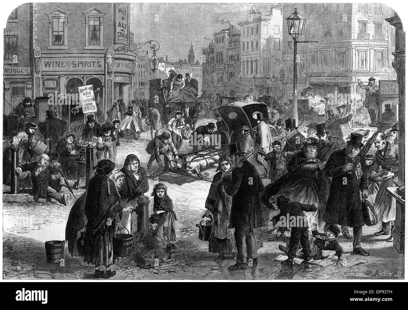 Frost in London, 19th century Stock Photo