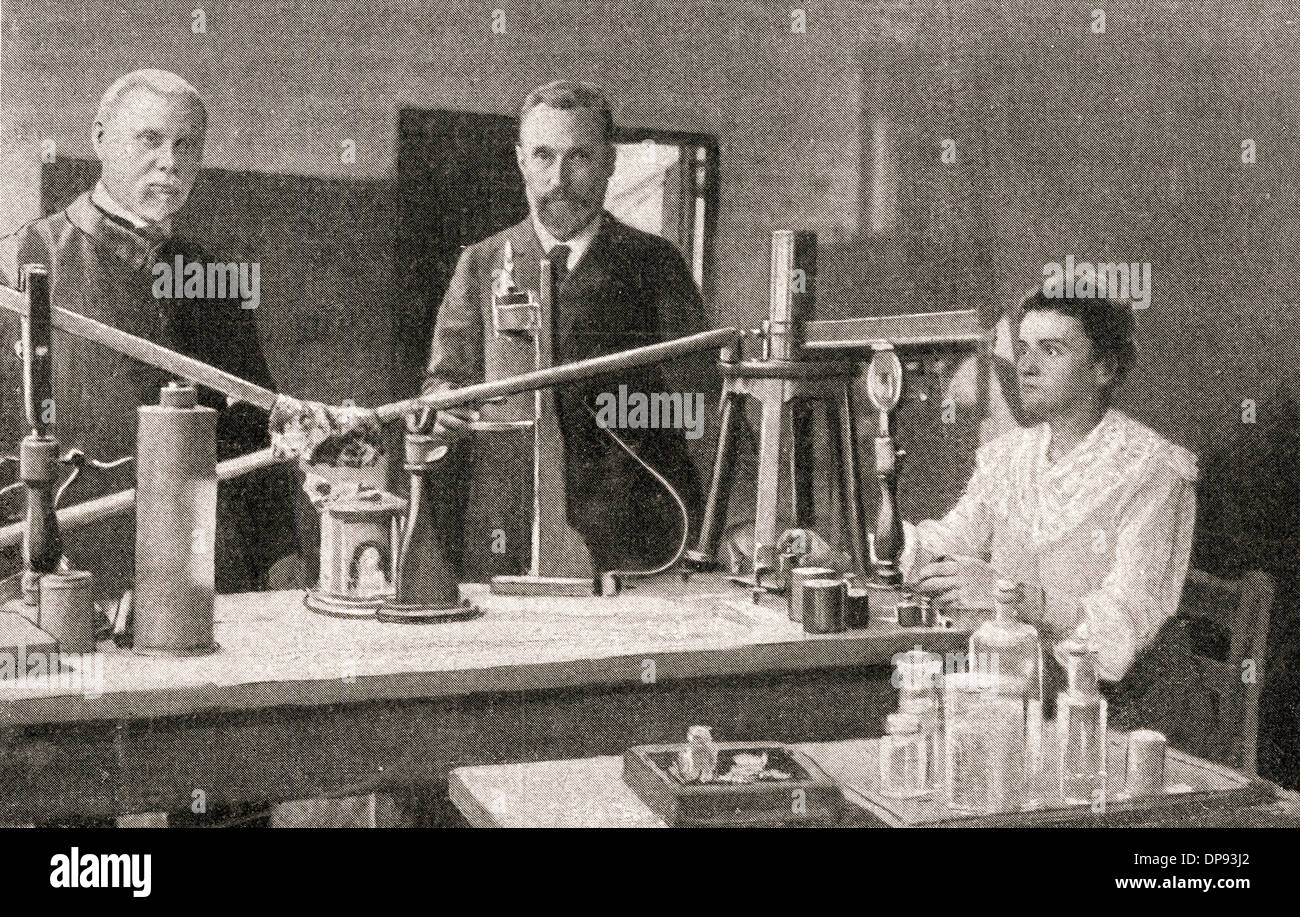 Marie and Pierre Curie Stock Photo