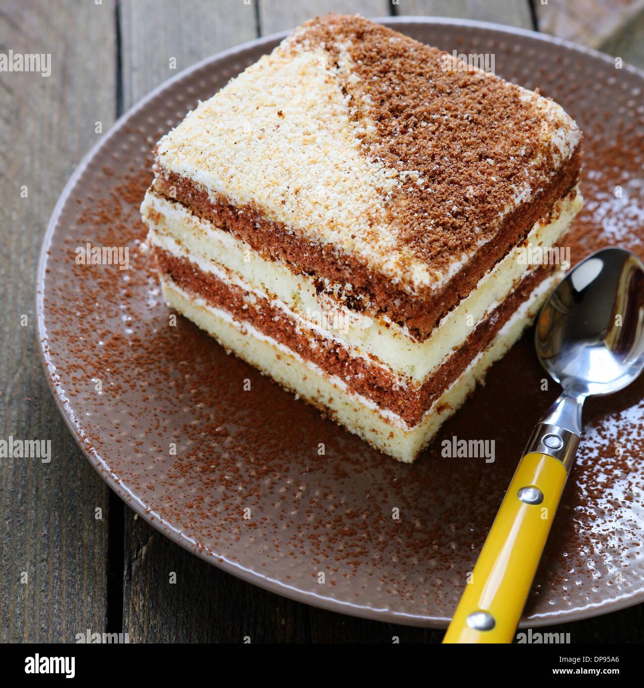piece of cake on a plate food closeup & piece of cake on a plate food closeup Stock Photo: 65355310 - Alamy