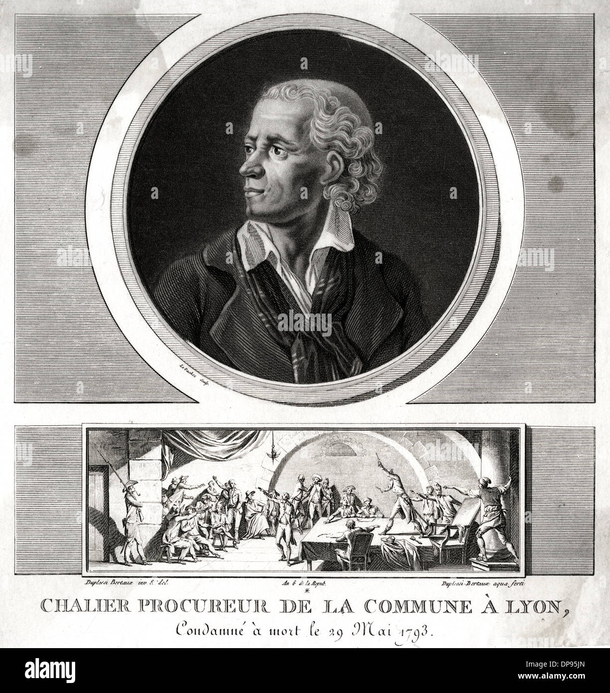 CHALIER (1747 - 1793) - Stock Image